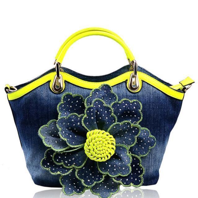 937ad2e6d73f Flying birds Women Denim Bags Sweet Blue Rose purse High Quality Handbags  With Diamond Ladies Tote Bag Messenger Bags LM3516fb