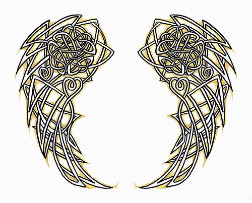 Celtic Angel Wings By Cherryblossomleda Celtic Knot Tattoo Celtic Tattoos Wing Tattoo Designs