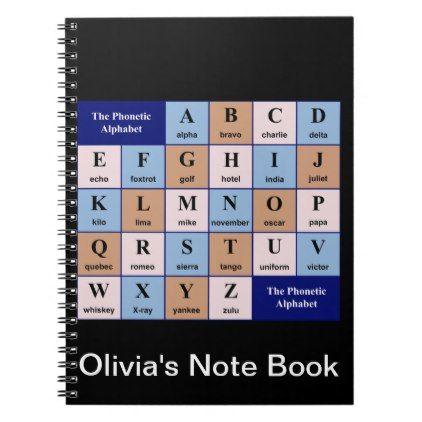 Phonetic Alphabet Notebook Anniversary Gifts Ideas Diy Celebration Cyo Unique