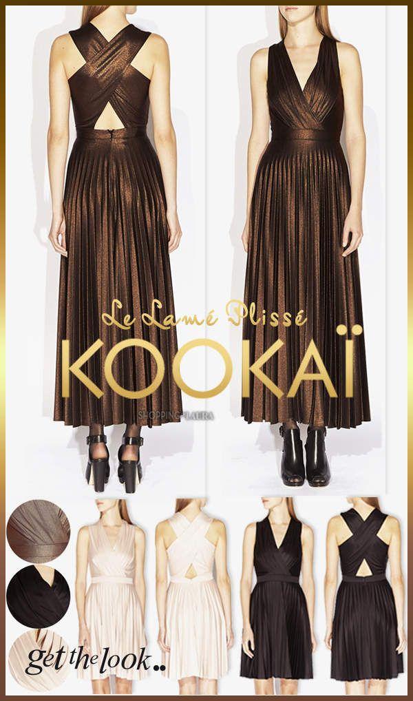 64800e3c163 Robes du soir KOOKAI lamées ou plissées très structurées ...