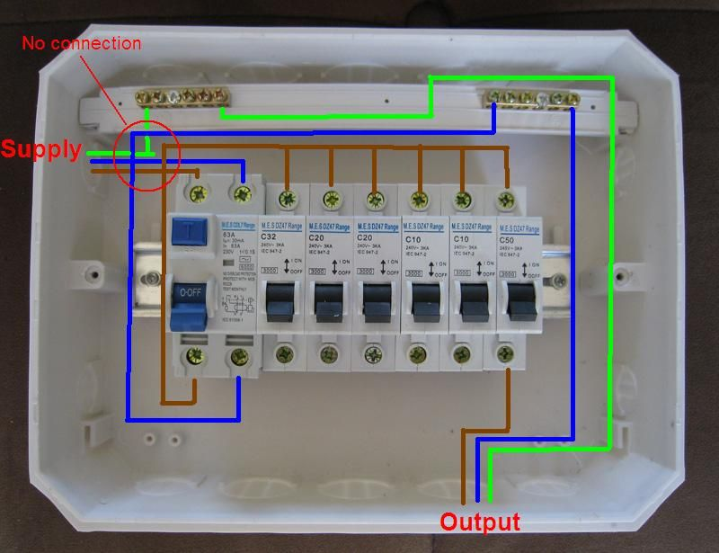 distribution board wiring diagram electrical engineering blog rh pinterest ie House Wiring Diagrams Residential Electrical Wiring Diagrams