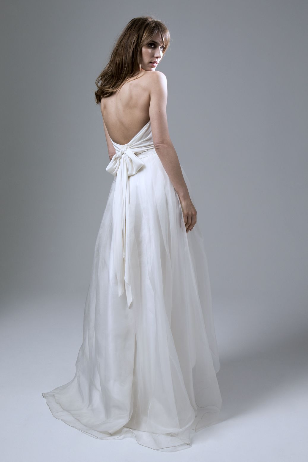 Pleated wedding dress  Wedding dress by Halfpenny London  Bridal Fashion by Kate Halfpenny
