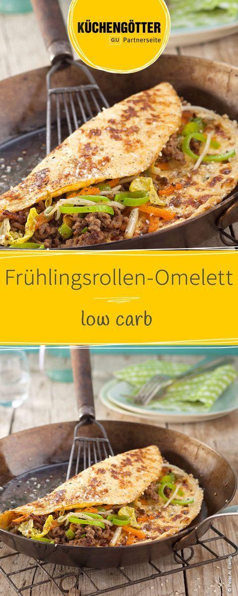 Frühlingsrollen-Omelett
