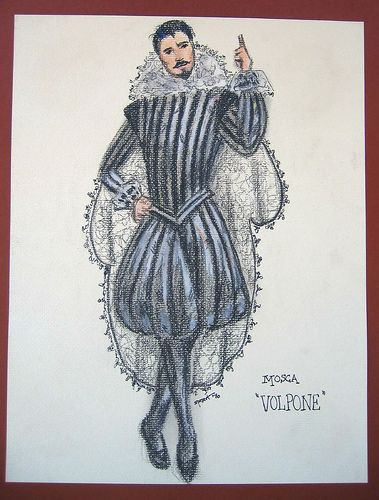 """Costume Sketches From My Collection: """"Volpone"""", via Flickr."""