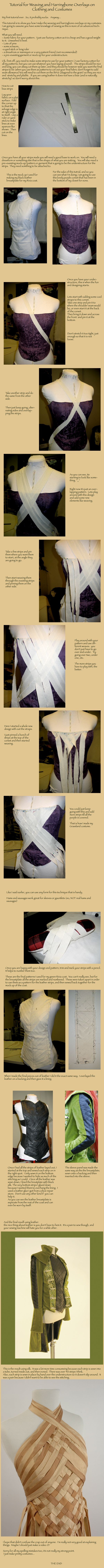 This, in leather, would be a perfect detail for a LOTR elf. | Woven Corset Bodice Tutorial by ~nolwen on deviantART