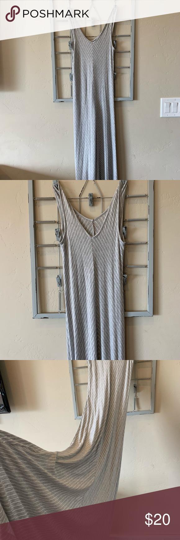 Paraphrase Maxi Dres Striped Dresse Dresses Grey Dress