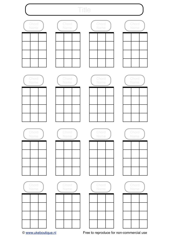 blank guitar tab sheets   Google Search   Ukulele chords, Chord ...
