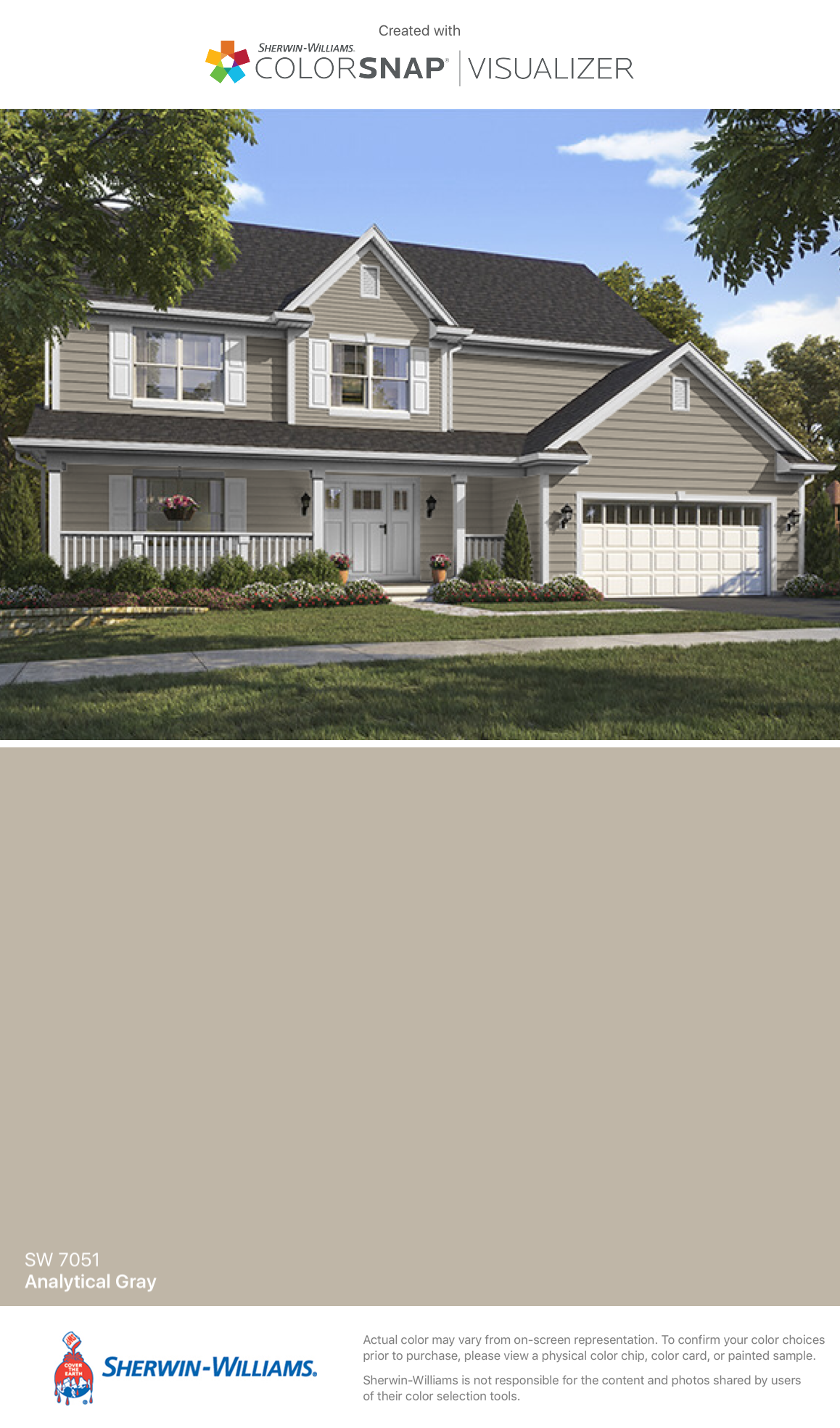 I Found This Color With Colorsnap Visualizer For Iphone By Sherwin Williams Ytical Gray Sw 7051