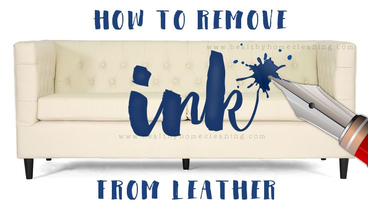 how to remove ink from leather  Green Living With Norwex