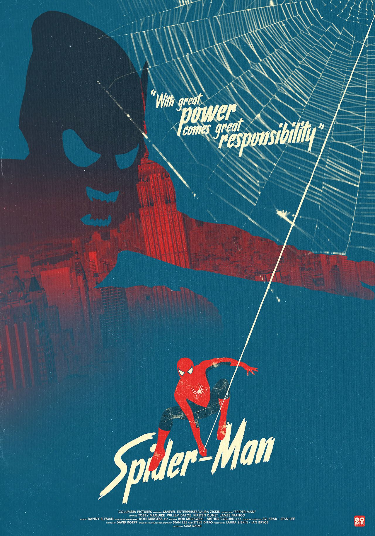 Spider Man 2002 Alternative Movie Poster By Gregory