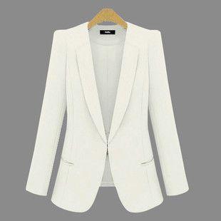 fc6aa085a9 New Spring 2016 Women Blazers plus size fashion female slim blazer Ol Candy  Color suit jacket ladies office coat Maxi Size