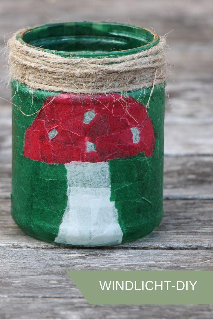 Gläser-Upcycling: Windlichter basteln mit Transparentpapier - Lavendelblog