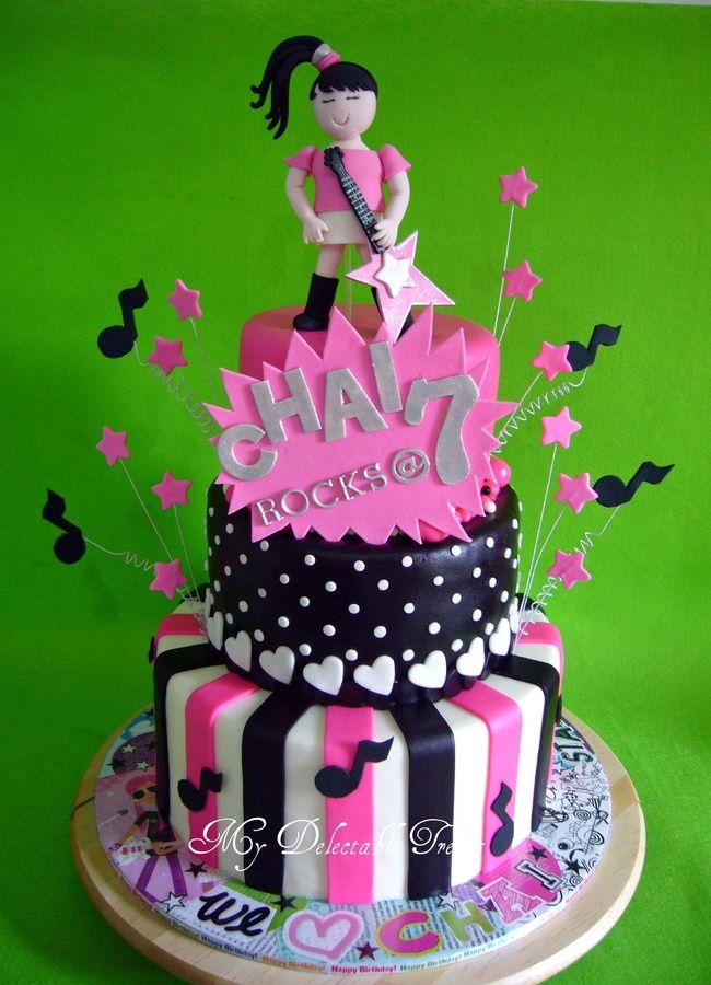 Fabulous Rock Star Theme Cake Rock Star Cakes Themed Cakes Birthday Funny Birthday Cards Online Kookostrdamsfinfo