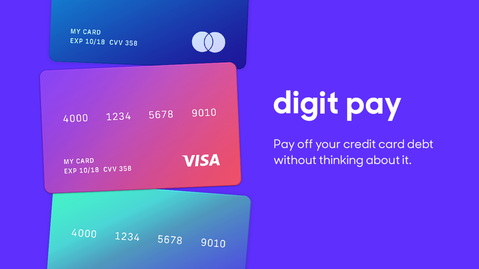 Pay Off Your Credit Card Debt With The Help Of The Savings App Digit Credit Card Design Credit Card App Credit Cards Debt