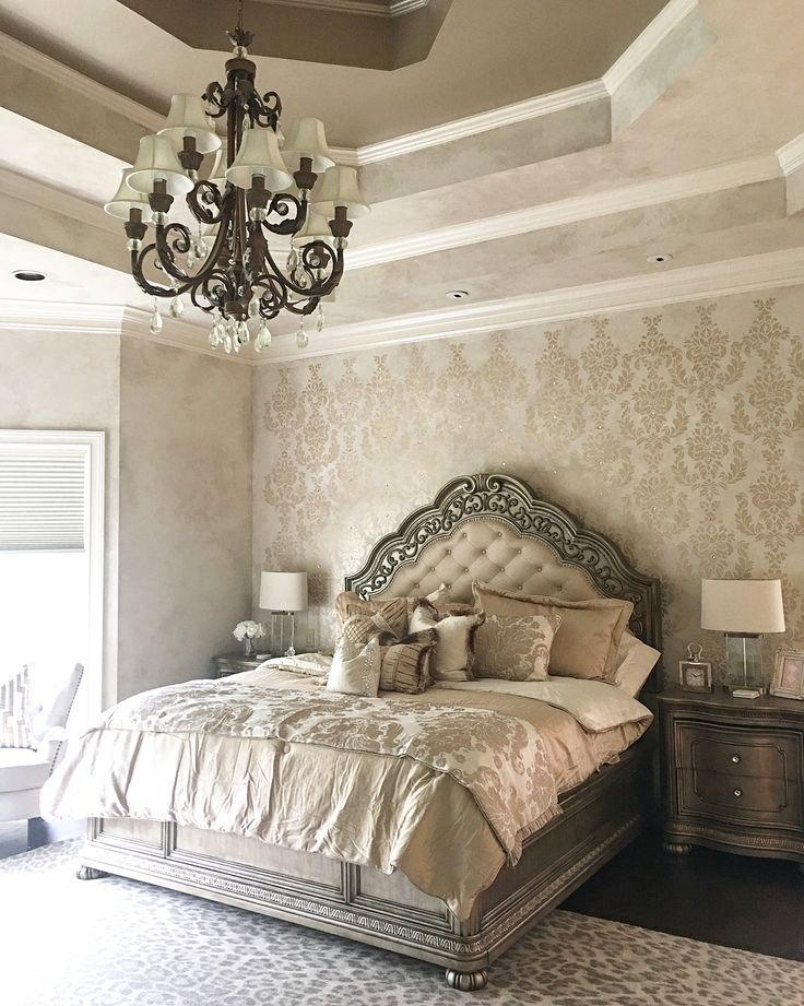 Damask Wall Stencil Stenciled and Painted