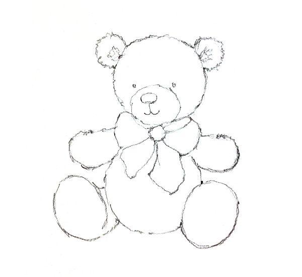 Картинки плюшевого медведя карандашом
