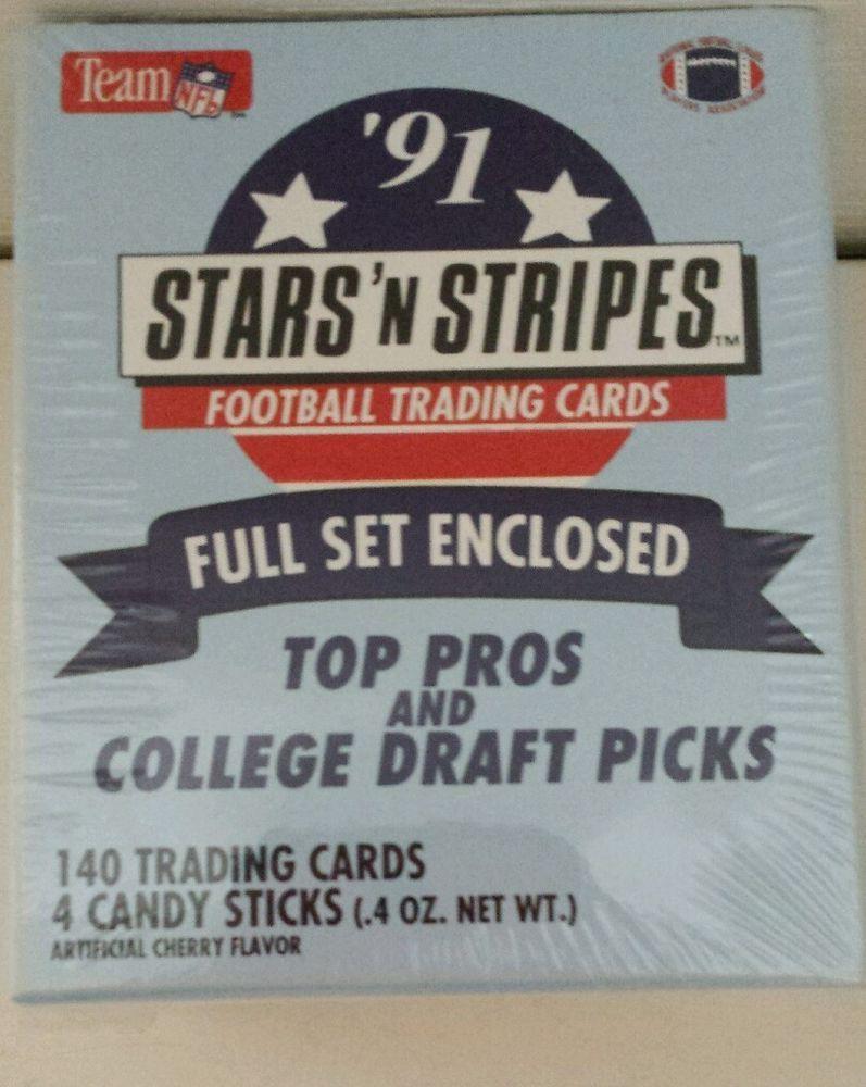 1991 team nfl stars n stripes 140 football cards complete