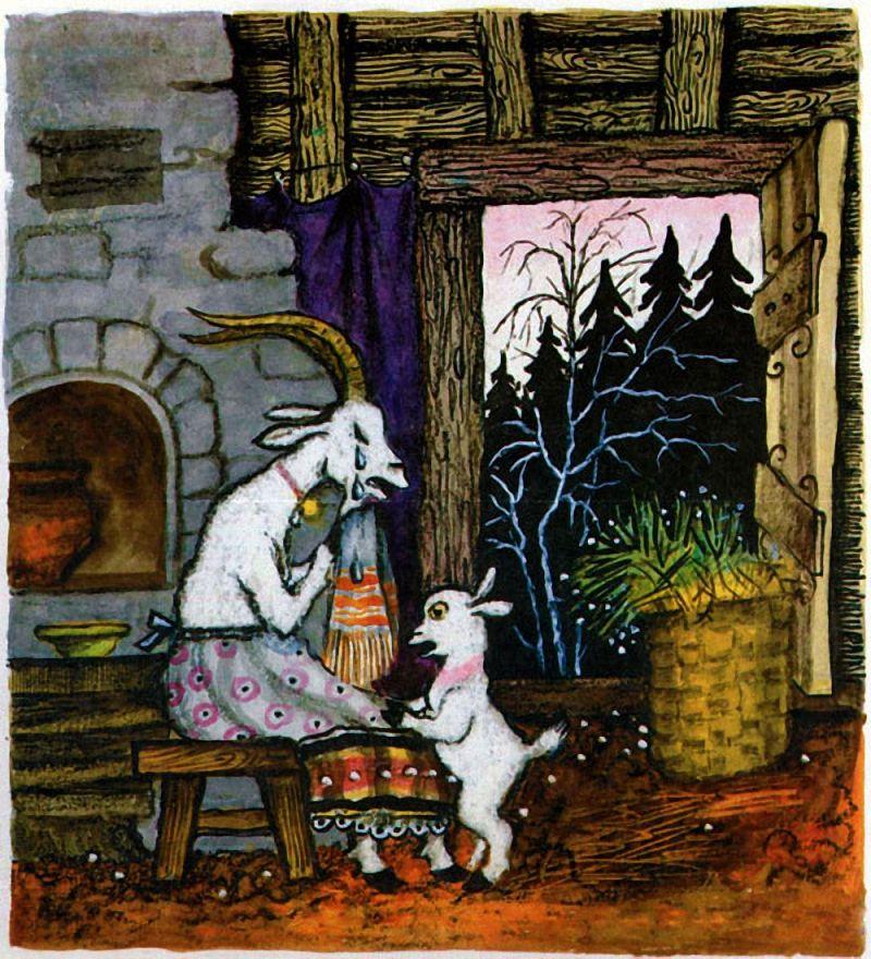 Волк и семеро козлят | Иллюстратор, Графическое искусство и Краска