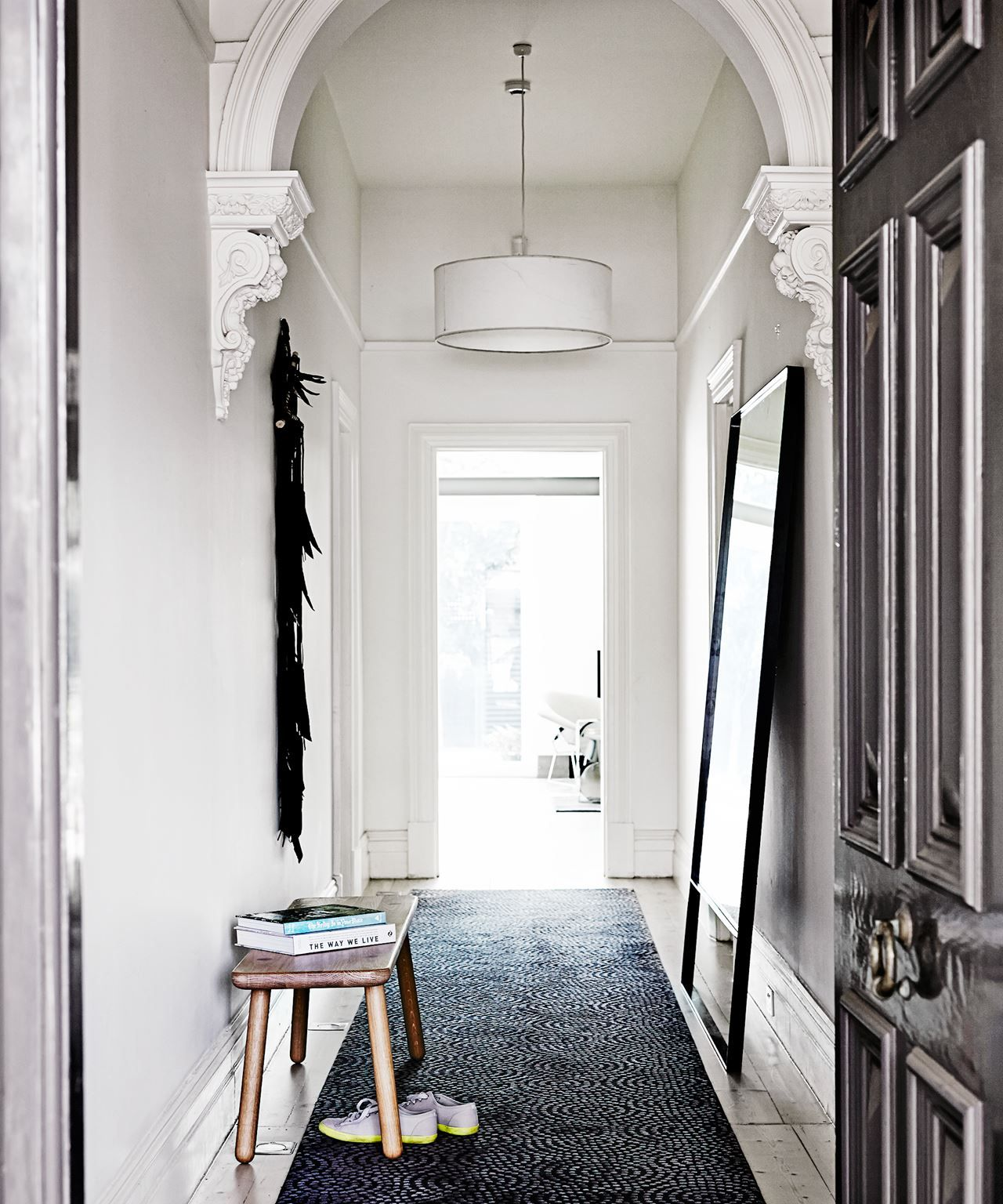 Lovely Contemporary Victorian Hallway: Vivienne And Max's Luxe Hotel-Inspired Home