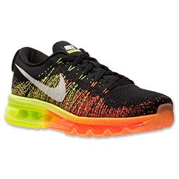 Men's Nike Flyknit Air Max Running Shoes | FinishLine.com | Black/Sail/