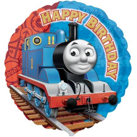 Thomas The Train Happy Birthday Foil Balloon Walmart Com In 2021 Thomas The Train Birthday Party Happy Birthday Balloons Boys Birthday Party Supplies