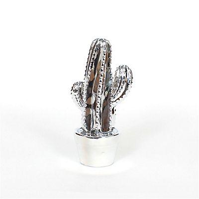 Cactus | Cactus En Céramique Coloris Argent à Poser H19cm   Décoration    Déco   Maison   Alinéa