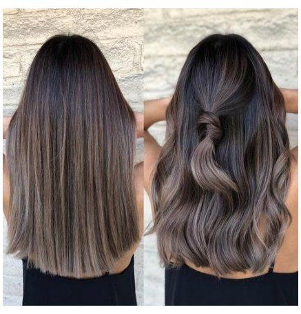 brunette hair color with highlights rose