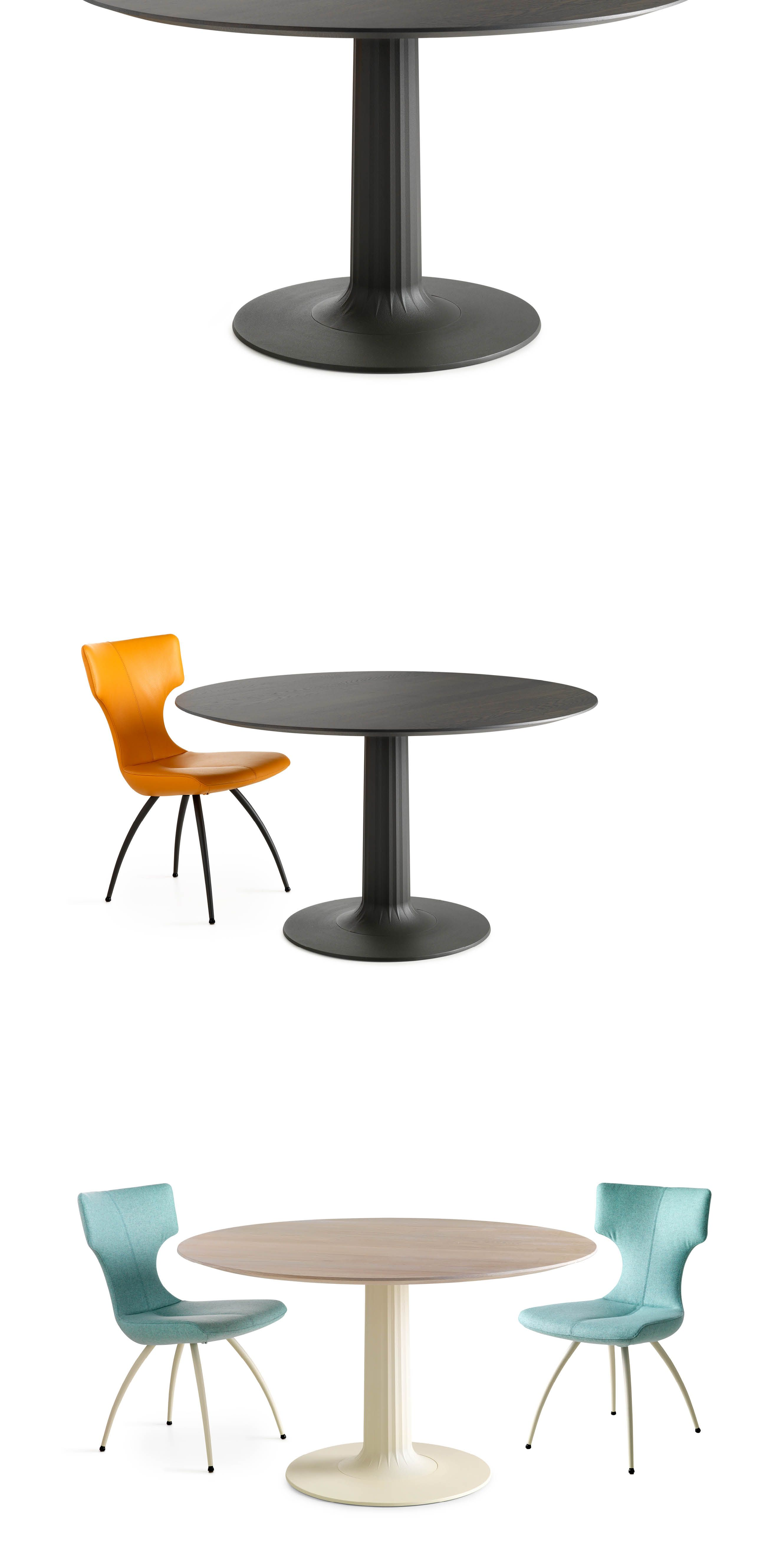 Dining Table Columna by Leolux. A leg and a table leaf connected by ...