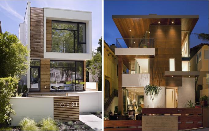 Fachadas de casas com madeira fachadas madeira e for Casas modernas 8x20