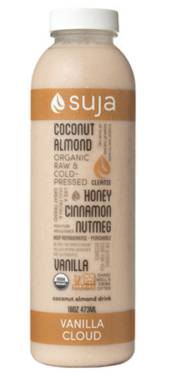 Suja Vanilla Cloud Made With Coconut Honey Almonds