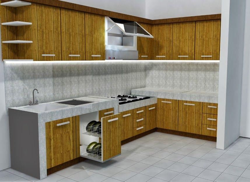 Kitchen Set Minimalis Untuk Dapur Kecil Model Dapur Lemari Dapur Ruang Keluarga Minimalis