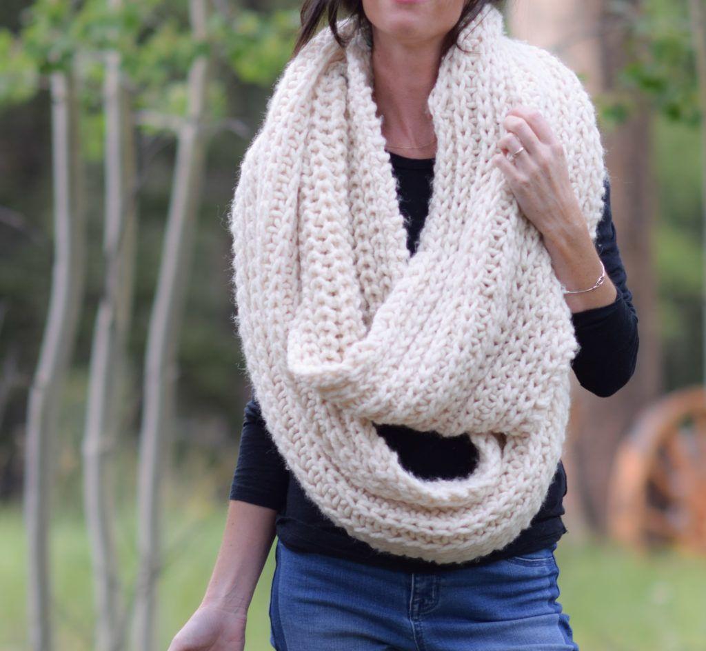 Big Knit Scarf Pattern   Infinity scarf pattern, Infinity ...