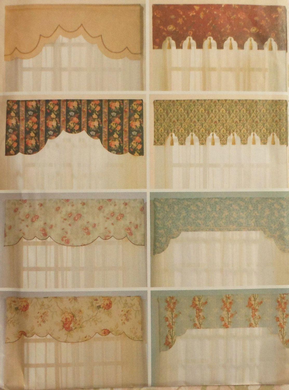 Reversible Valances Sewing Pattern Uncut Butterick
