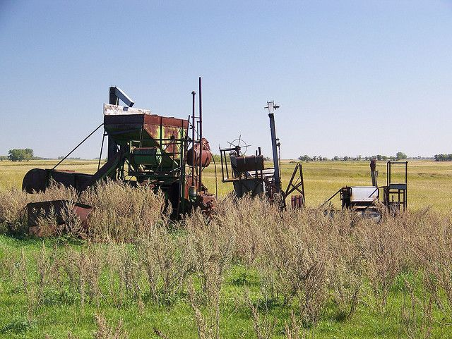 What is left of an old combine in North Dakota. Photo by im pastor rick.