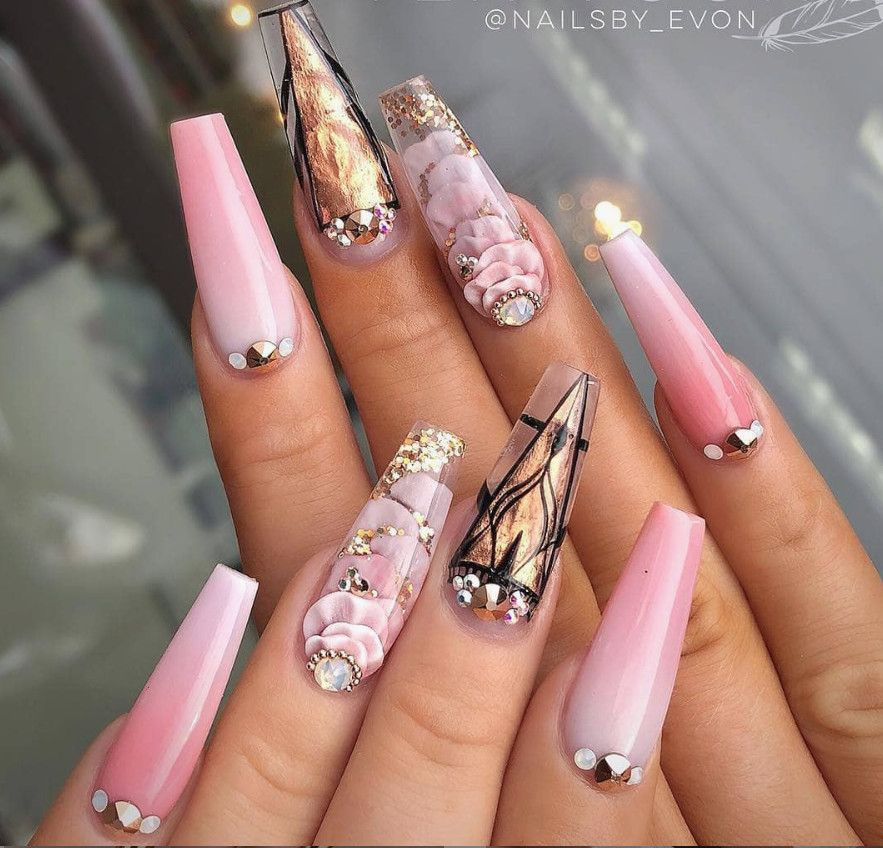 21 2020 Summer Nail Colors 2020 Coffin Nails Designs Coffin Nails Long Floral Nails