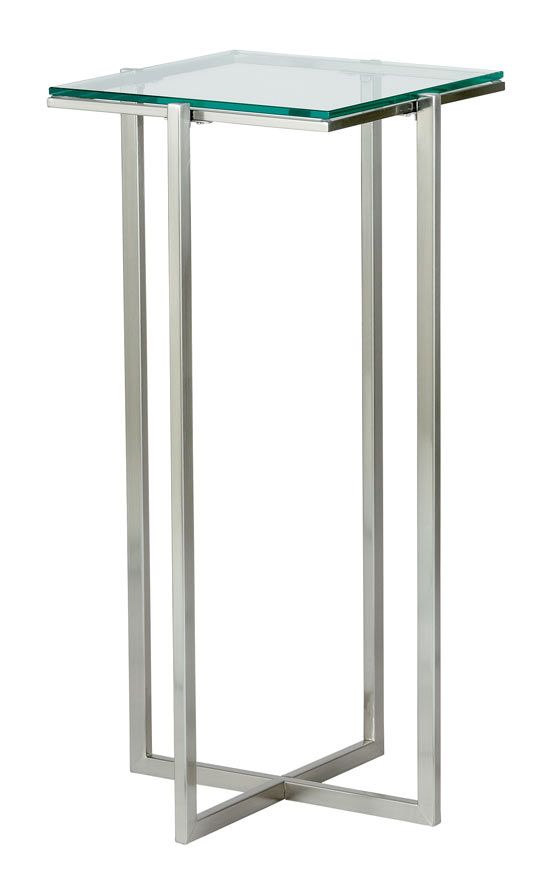 Tempered Glass End Table Bent End Table Set Of 2 Clear