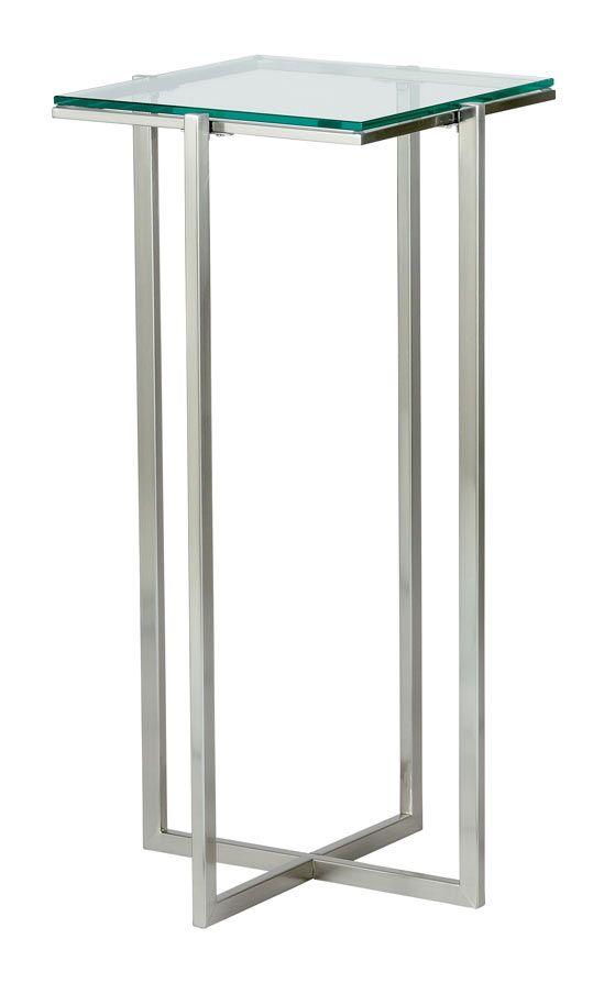 Glacier Tall Pedestal Modern Accent Tables Modern End Tables