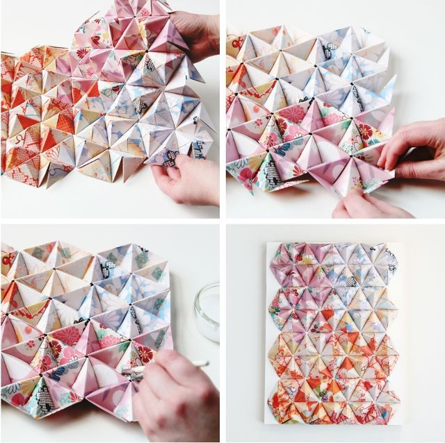Gathering Beauty: Things I've Made From Things I've Pinned: Diy 3-D Origami Wall Art.