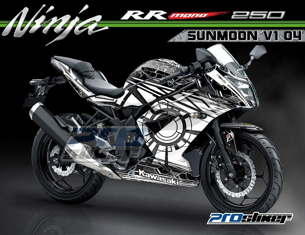 Decal Kawasaki Ninja Rr Mono 250cc Motif Sunmoon V1 Motogp Replica