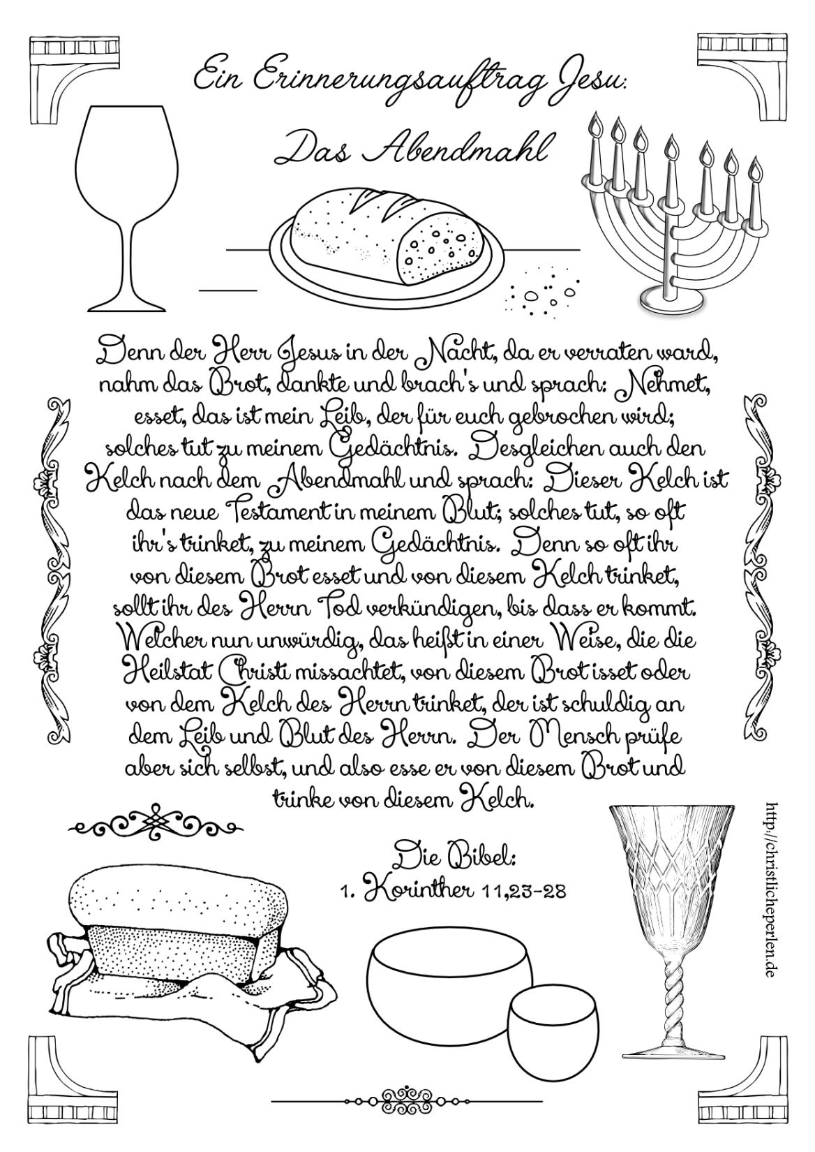 Abendmahl RU Ostern Pinterest Abendmahl