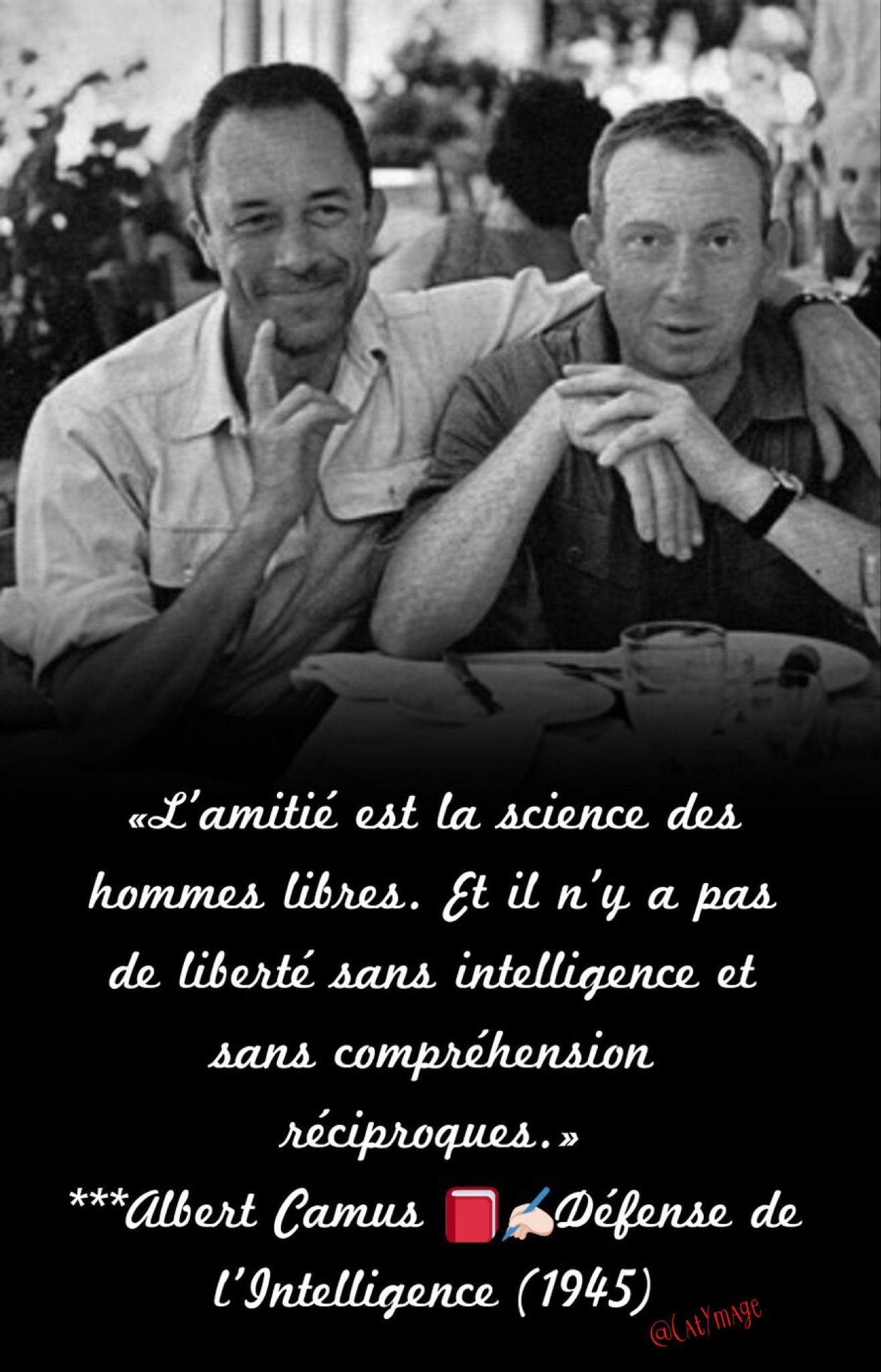 L Amitié Est La Science Des Hommes Libres Et Il N Y A Pas