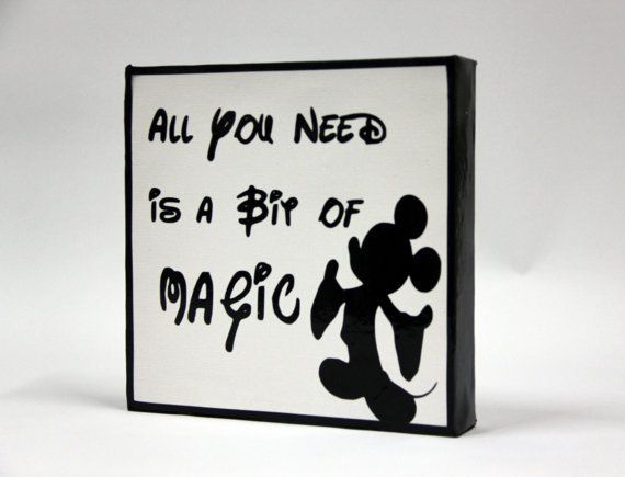 Quotes From Mickey Mouse: Walt Disney Quote All You Need Is A Bit Of Magic Vinyl