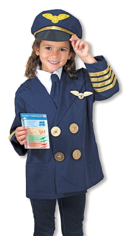 65e957e5 Amazon.com: Melissa & Doug Pilot Role Play Costume Set: Melissa & Doug: Toys  & Games