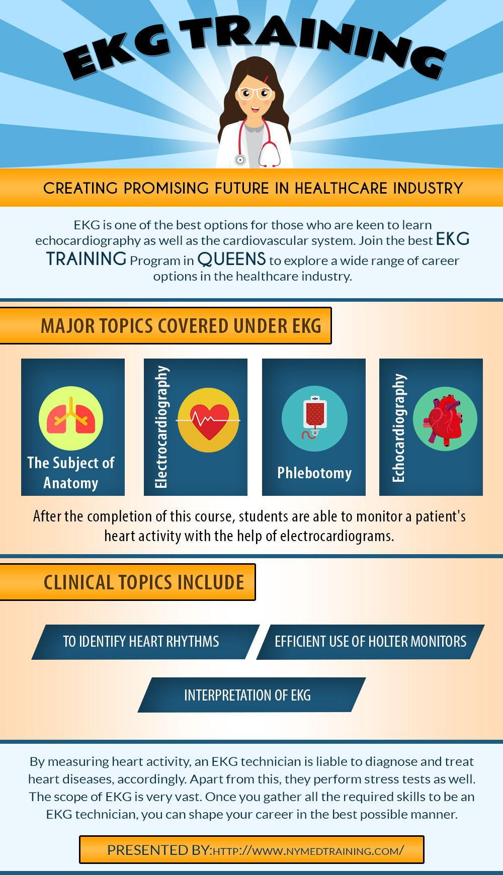 Major Topics Covered Under EKG Technician Training