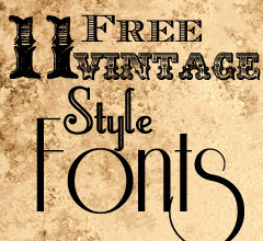 11 Free Vintage Style Fonts Vintage Fonts Vintage Typography Silhouette Fonts