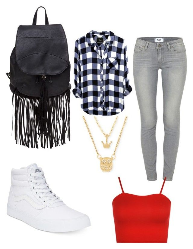 """cutie"" by sassyblu on Polyvore featuring Paige Denim, WearAll, Vans and Betsey Johnson"