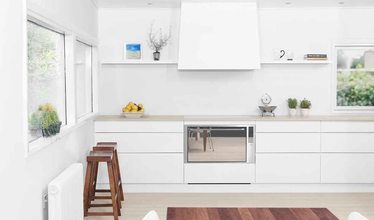 clean white kitchen design decorating ideas with white kitchen ...