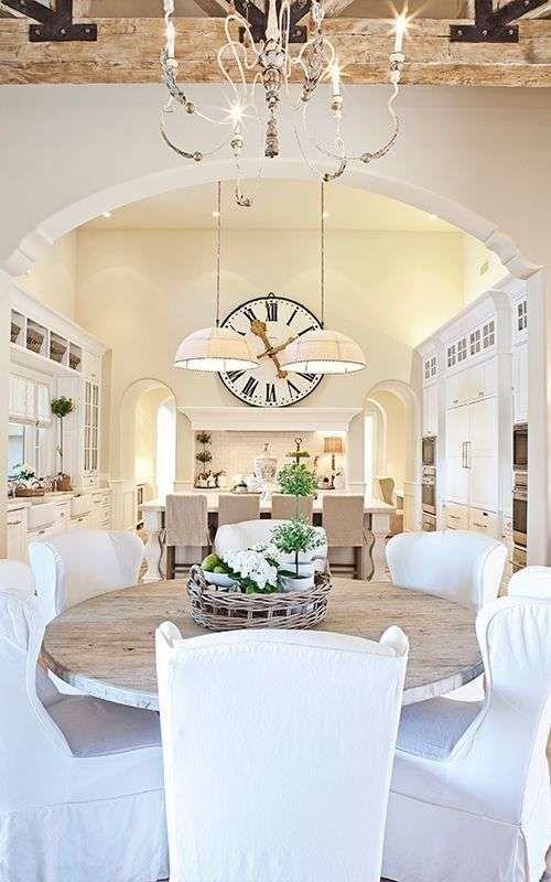 Arredare la cucina in stile country chic - Cucina con sala da pranzo ...