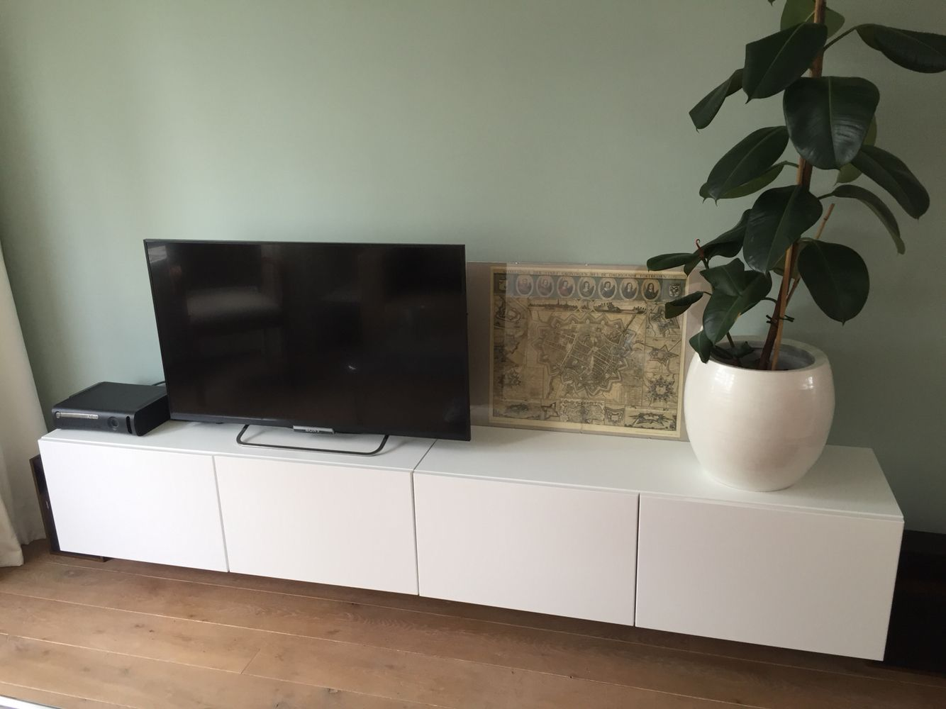 Tv meubel, Besta Ikea, Early Dew Flexa