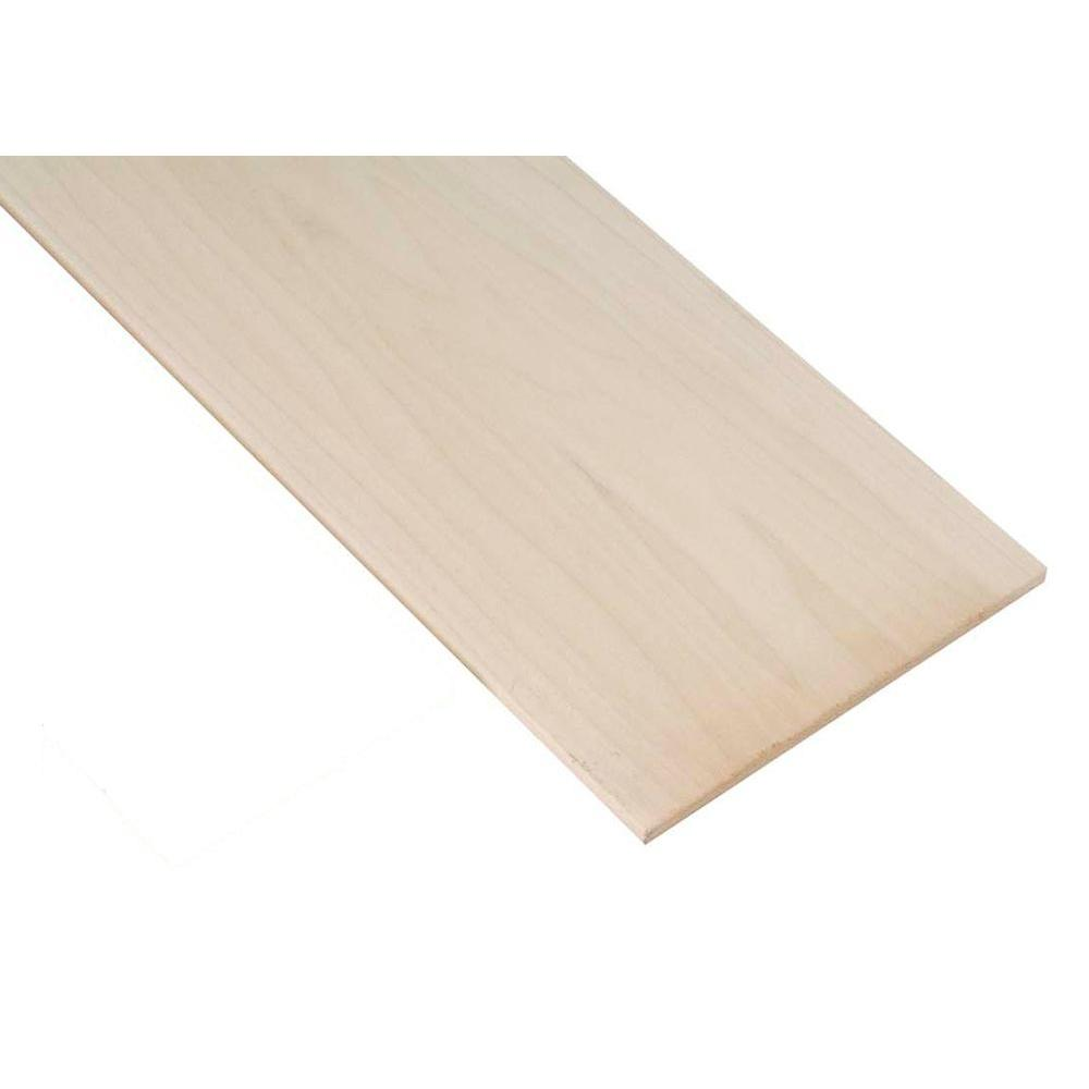 3/4 in. x .29 ft. x 4 ft. Poplar Project Panel (1-Pack) | Project ...